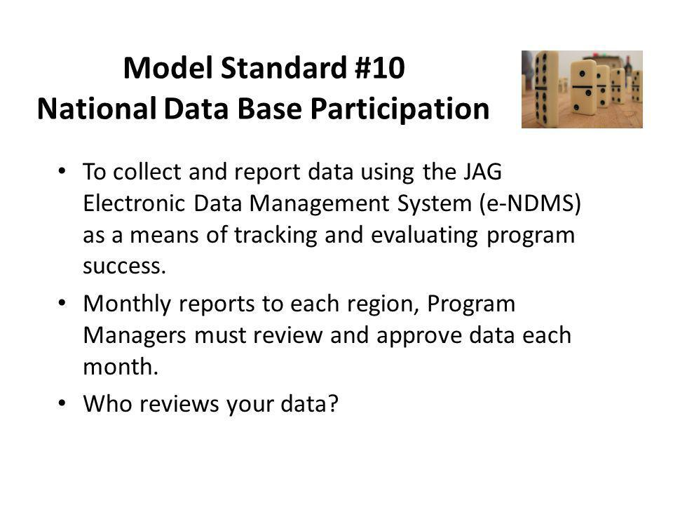 Model Standard #10 National Data Base Participation