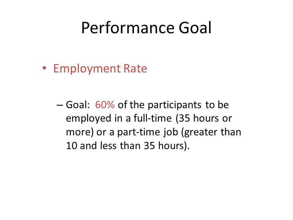 Performance Goal Employment Rate