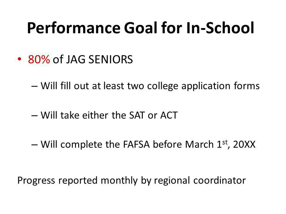 Performance Goal for In-School
