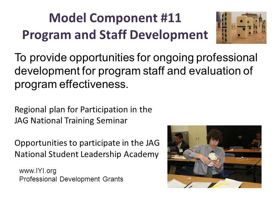 Model Component #11 Program and Staff Development