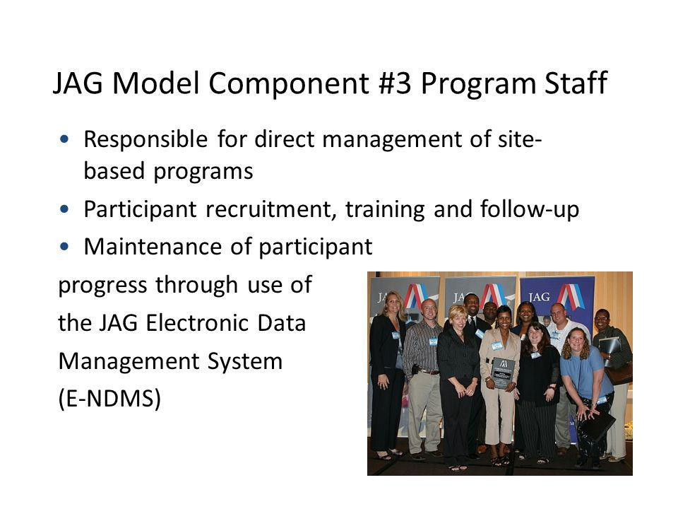 JAG Model Component #3 Program Staff