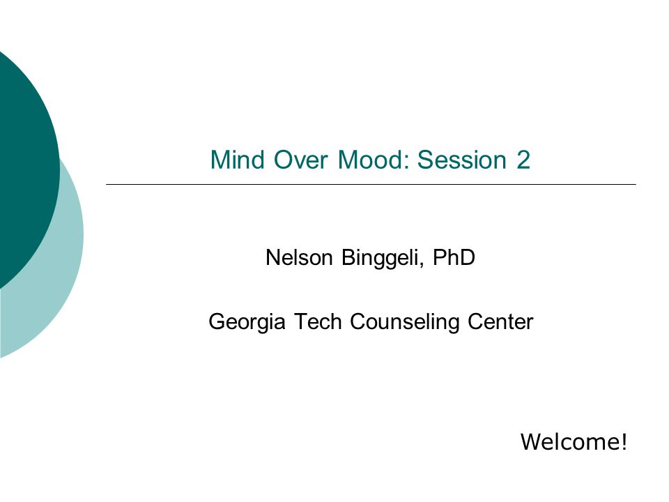 Mind Over Mood: Session 2