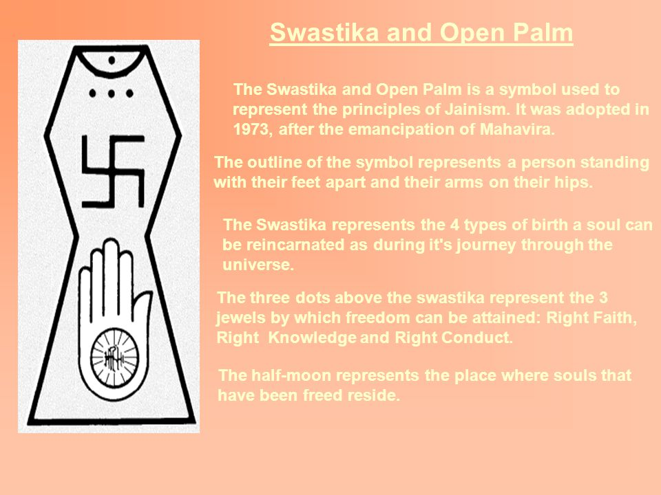 Swastika and Open Palm The Swastika and Open Palm is a symbol used to