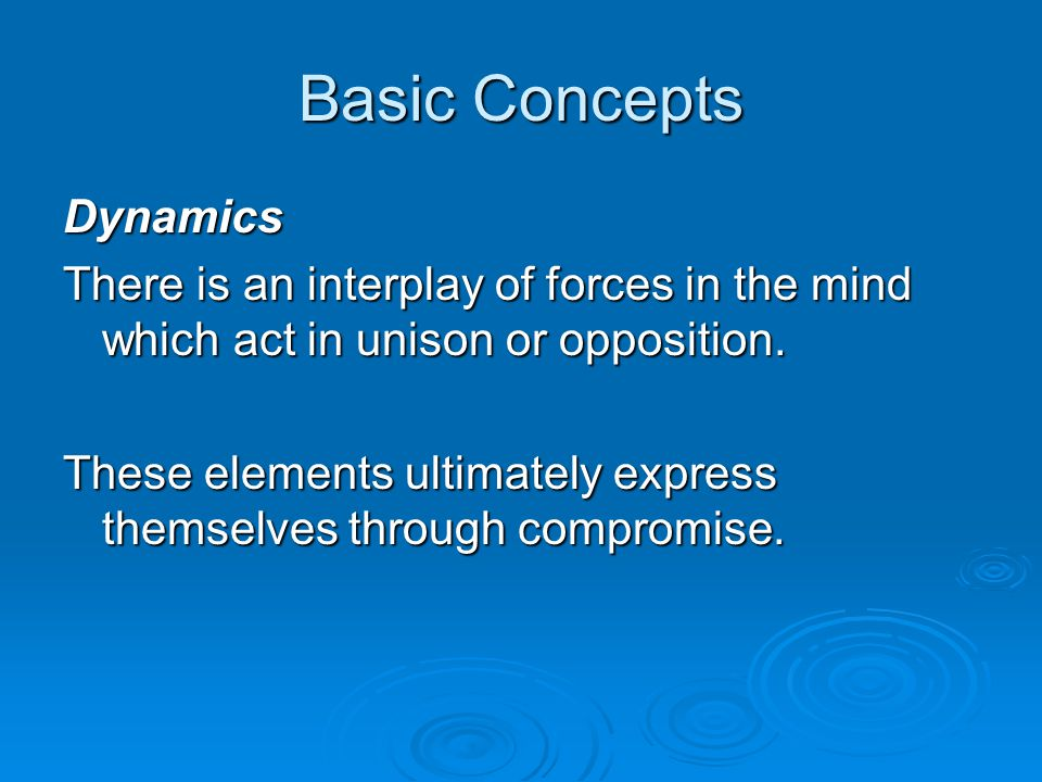Basic Concepts Dynamics