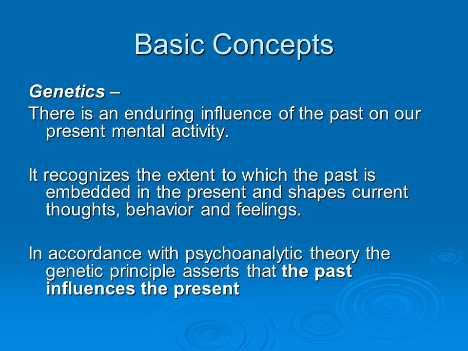 Basic Concepts Genetics –