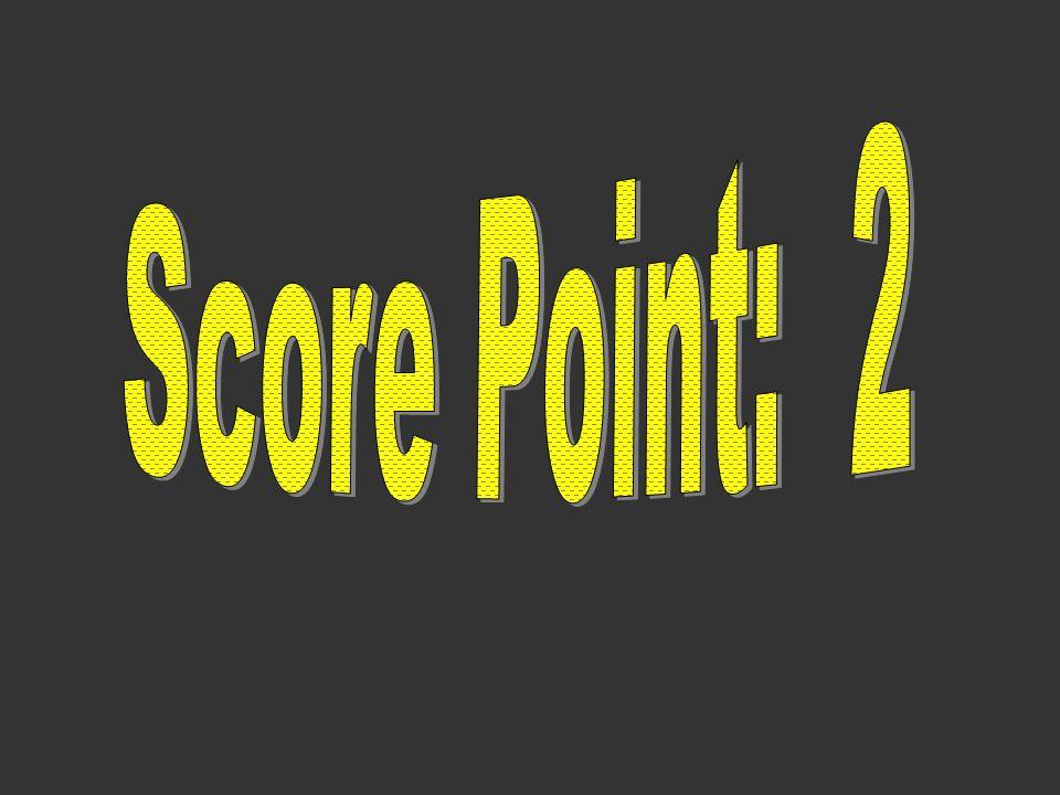 Score Point: 2
