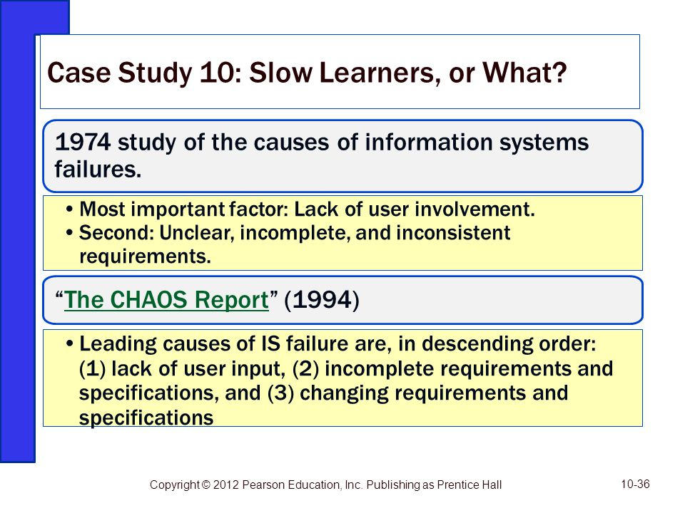 Case Study 10: Slow Learners, or What