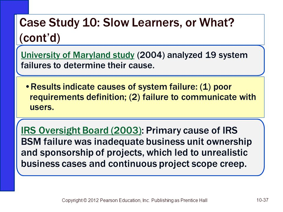 Case Study 10: Slow Learners, or What (cont'd)