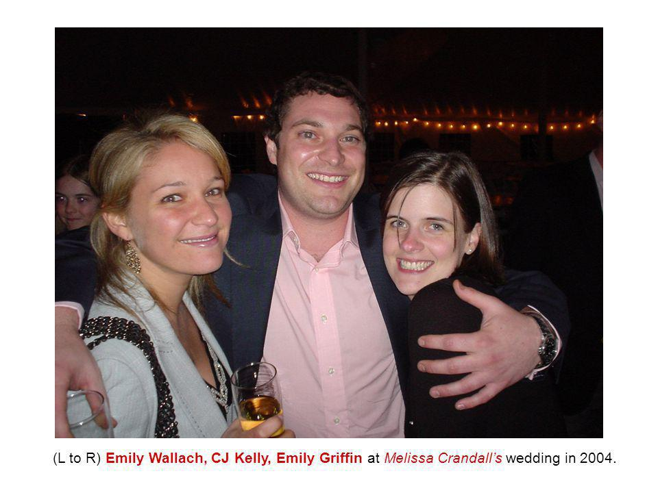 (L to R) Emily Wallach, CJ Kelly, Emily Griffin at Melissa Crandall's wedding in 2004.