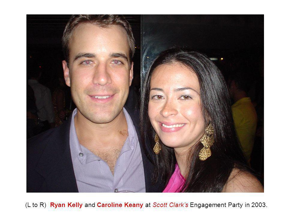 (L to R) Ryan Kelly and Caroline Keany at Scott Clark's Engagement Party in 2003.
