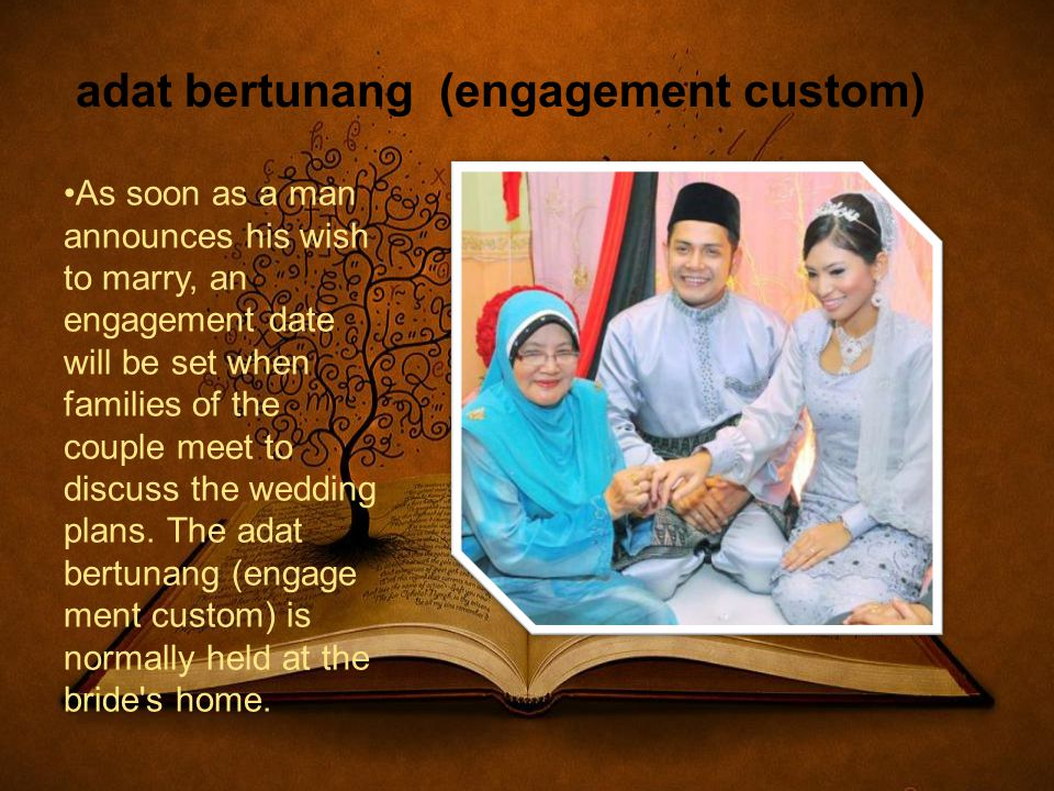 adat bertunang (engagement custom)