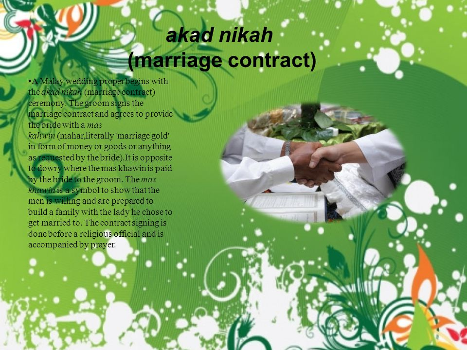 akad nikah (marriage contract)