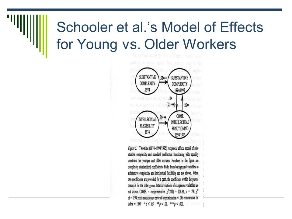 Schooler et al.'s Model of Effects for Young vs. Older Workers