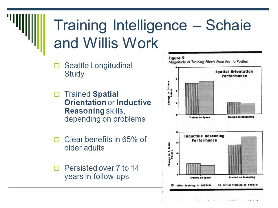 Training Intelligence – Schaie and Willis Work