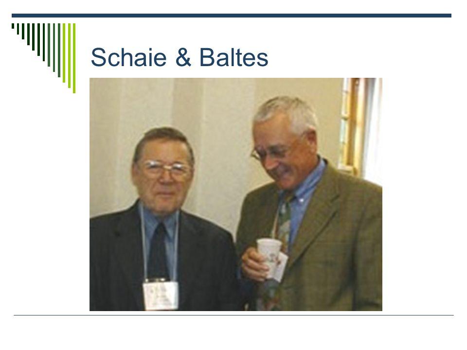 Schaie & Baltes
