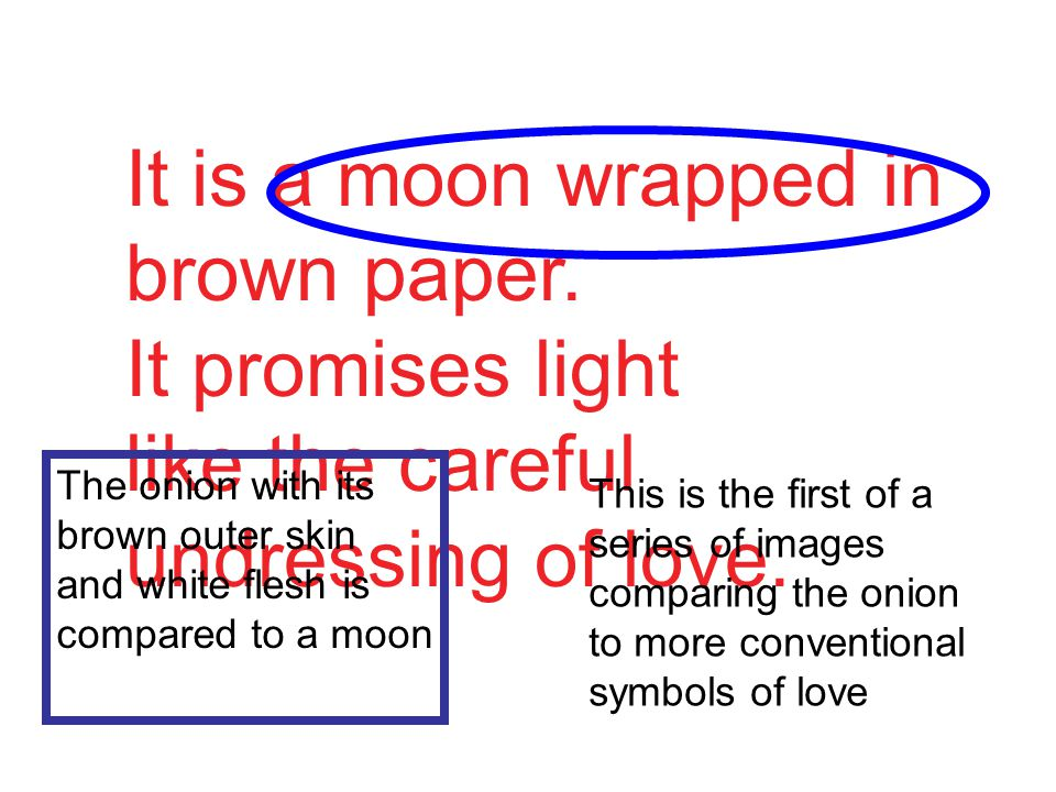 It is a moon wrapped in brown paper. It promises light