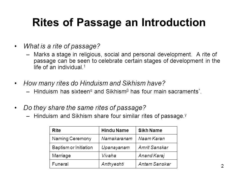 rite of passage paper