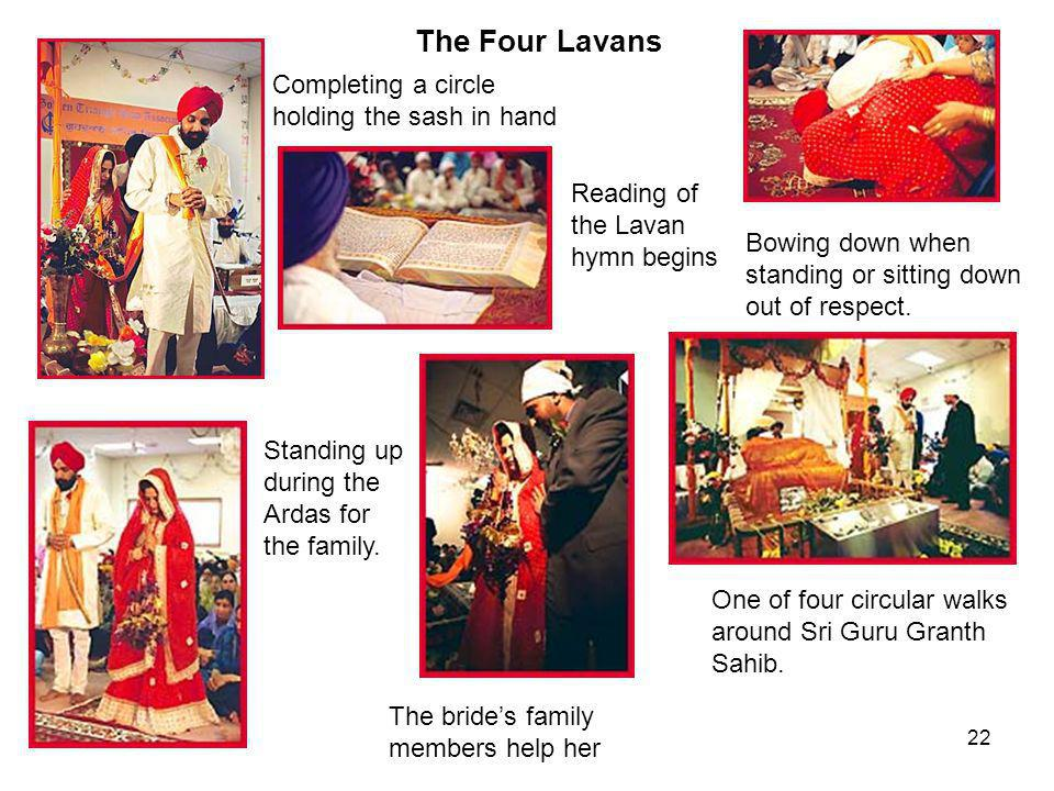 The Four Lavans Completing a circle holding the sash in hand
