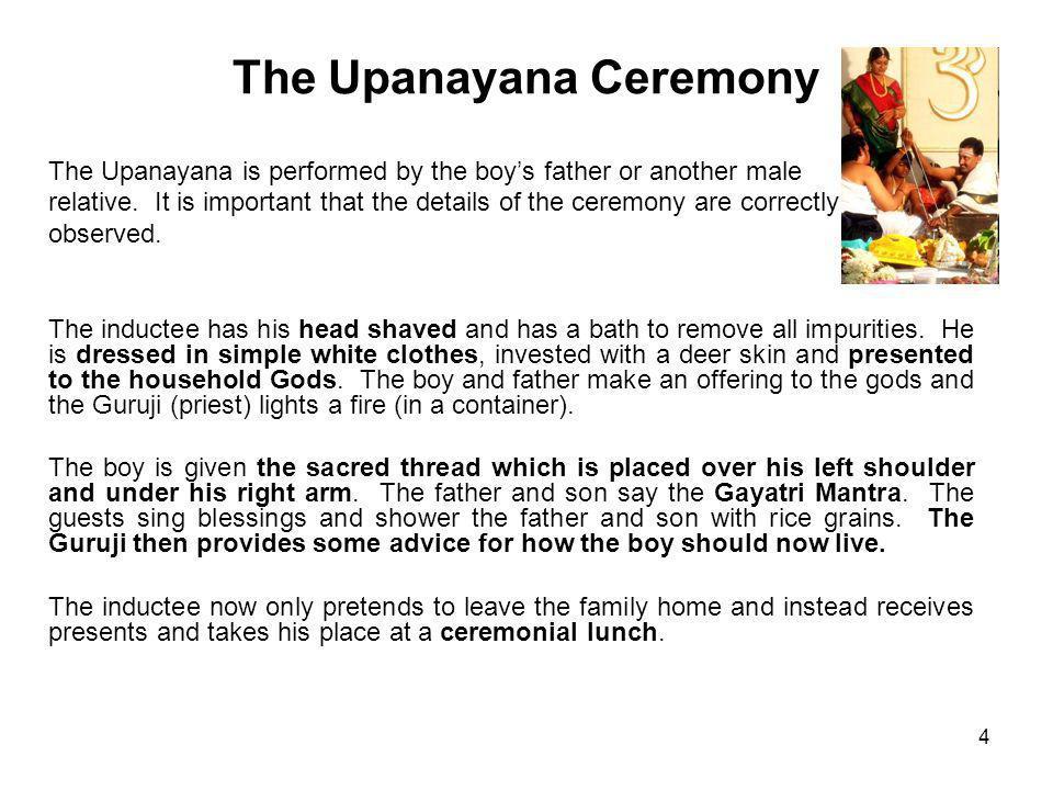The Upanayana Ceremony