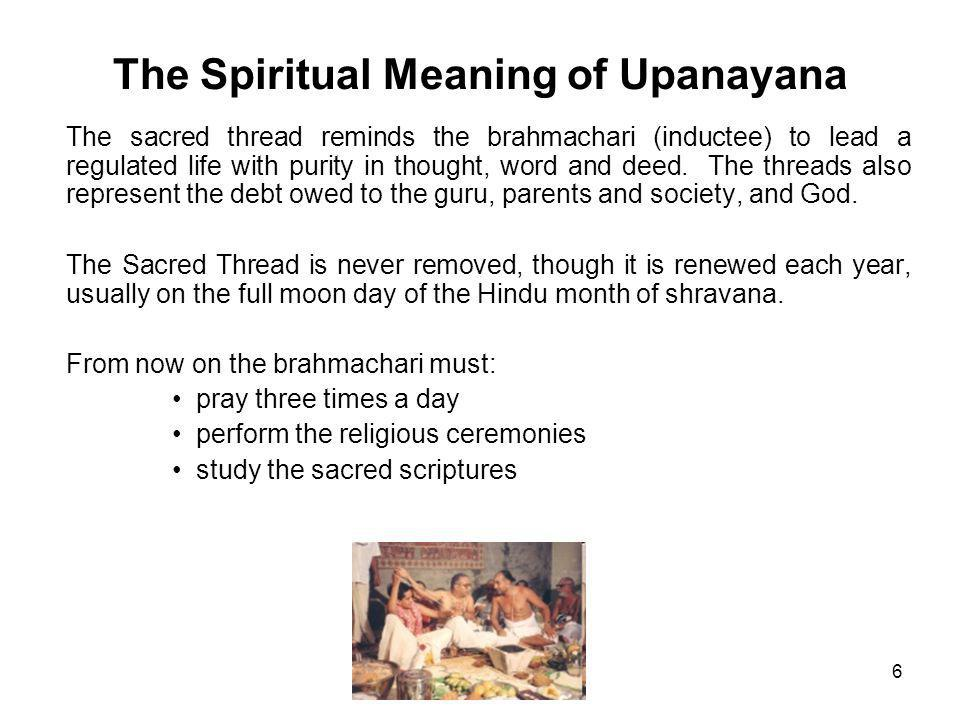 The Spiritual Meaning of Upanayana