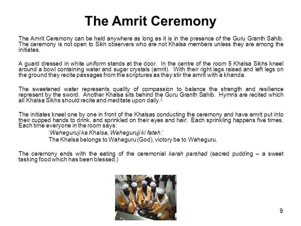 The Amrit Ceremony