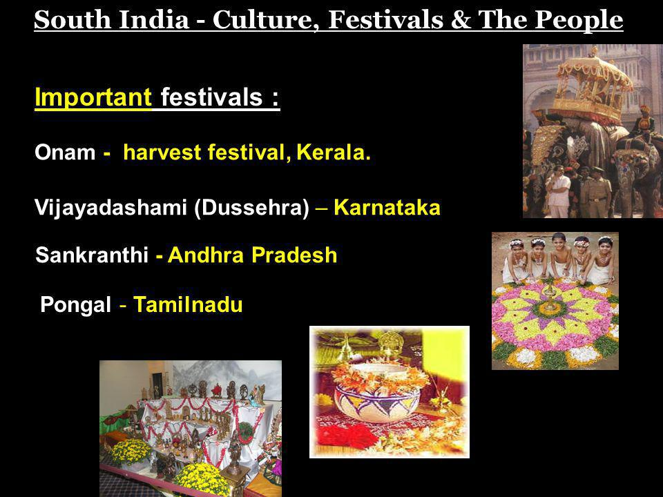 South India - Culture, Festivals & The People