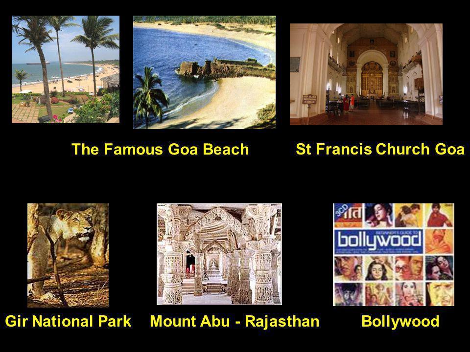 The Famous Goa Beach St Francis Church Goa Gir National Park Mount Abu - Rajasthan Bollywood
