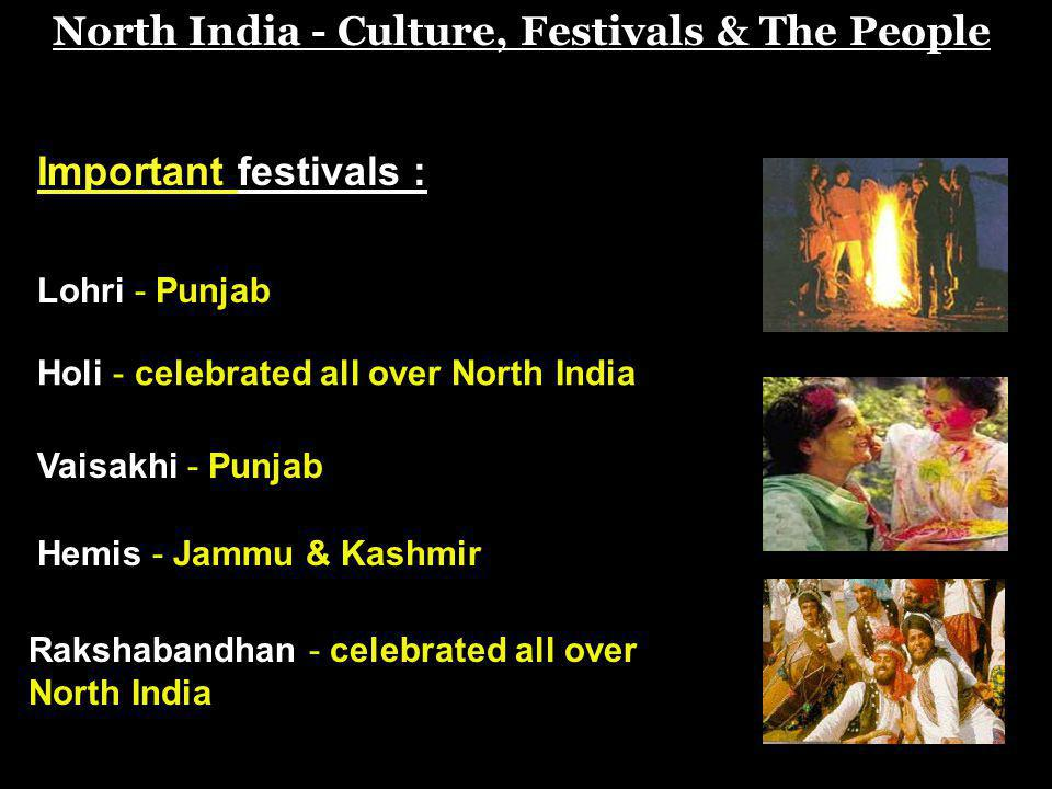North India - Culture, Festivals & The People