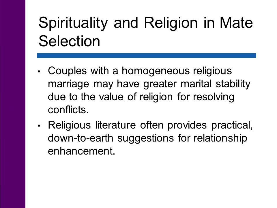 Spirituality and Religion in Mate Selection