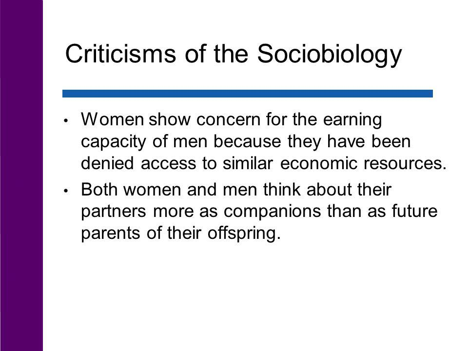 Criticisms of the Sociobiology