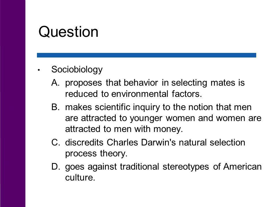 Question Sociobiology