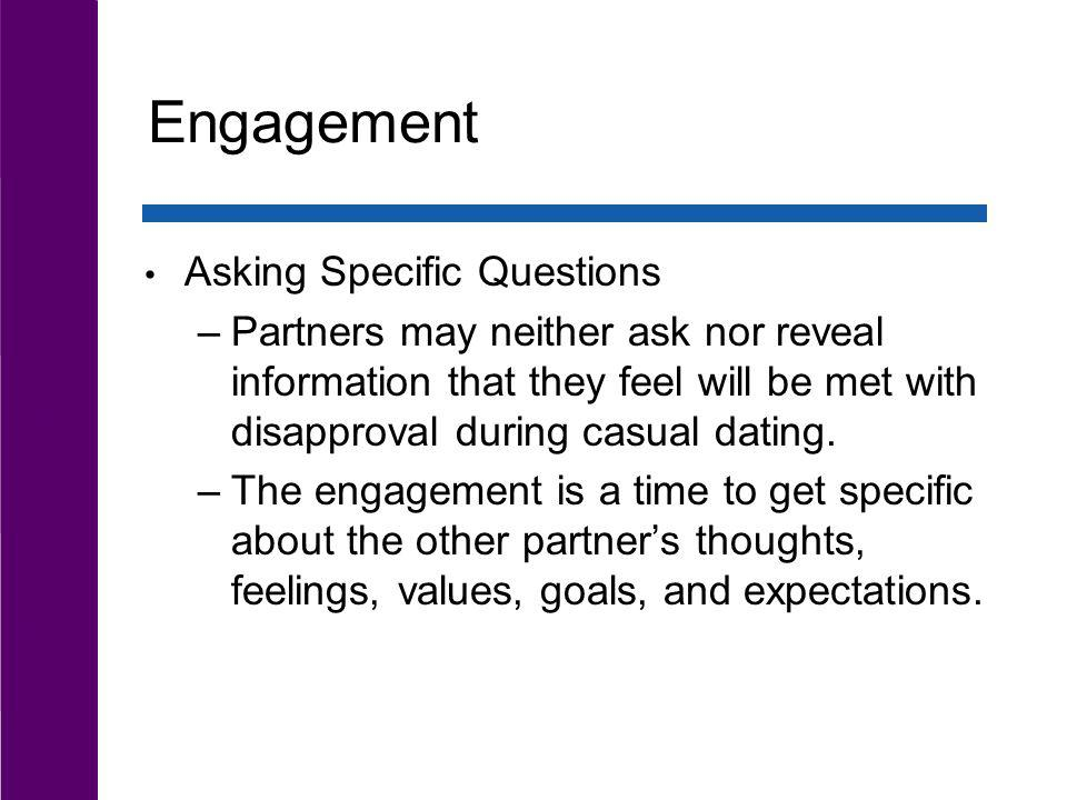 Engagement Asking Specific Questions