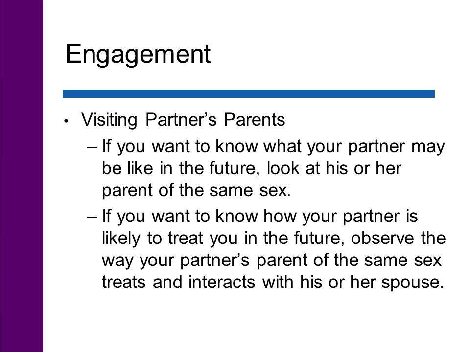 Engagement Visiting Partner's Parents