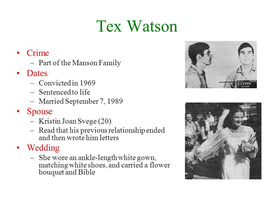 Tex Watson Crime Dates Spouse Wedding Part of the Manson Family