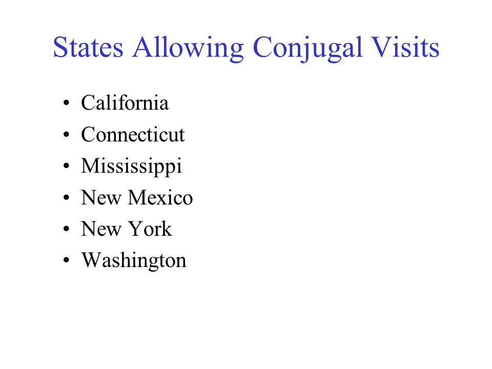 States Allowing Conjugal Visits