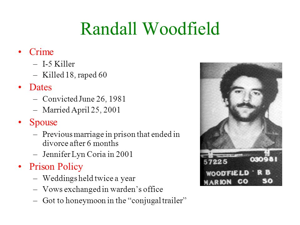 Randall Woodfield Crime Dates Spouse Prison Policy I-5 Killer