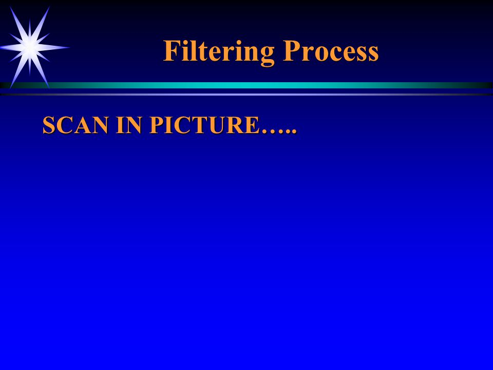 Filtering Process SCAN IN PICTURE…..