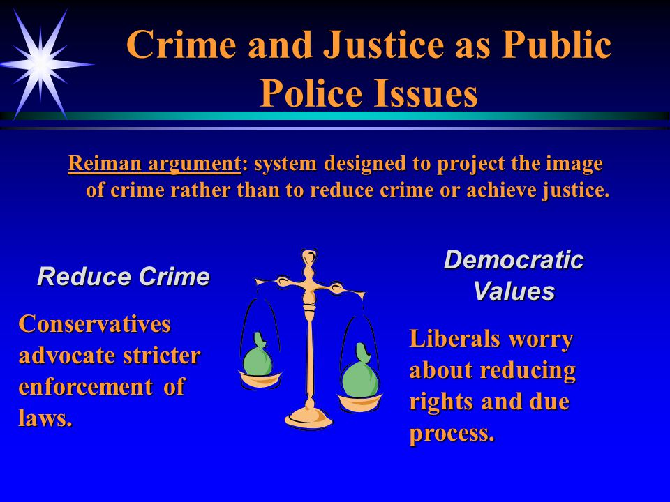 Crime and Justice as Public Police Issues