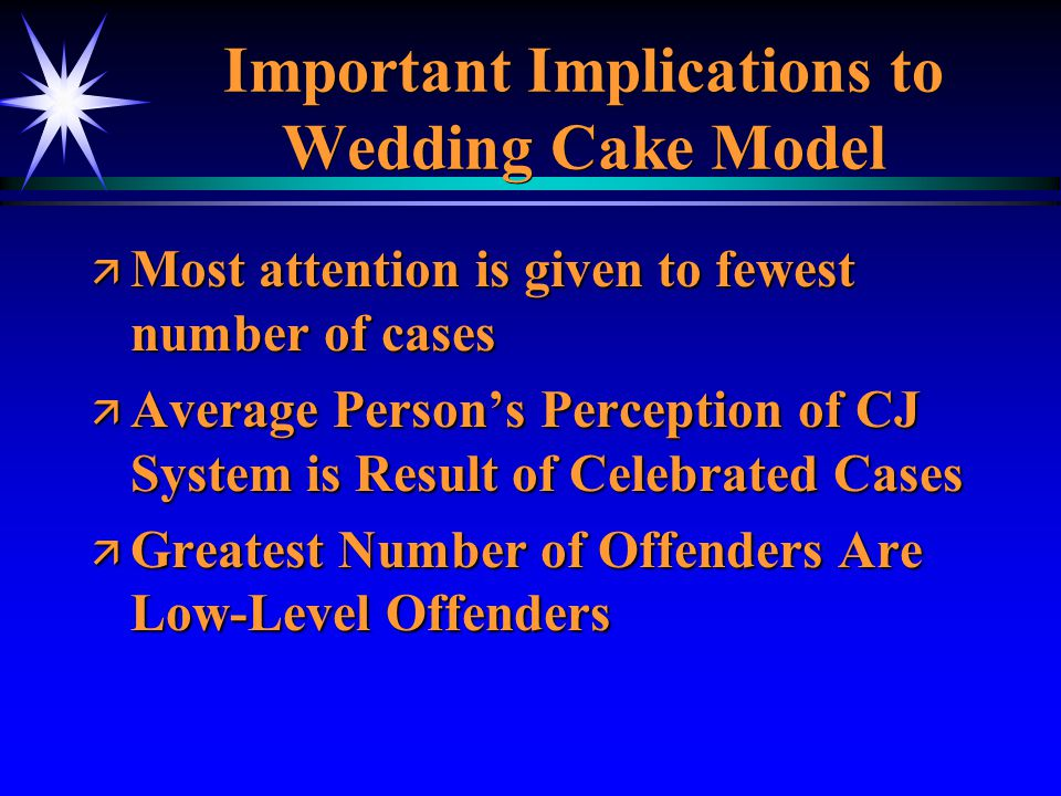 Important Implications to Wedding Cake Model