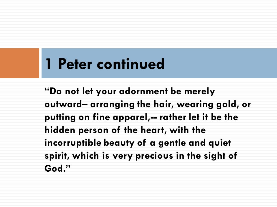 1 Peter continued