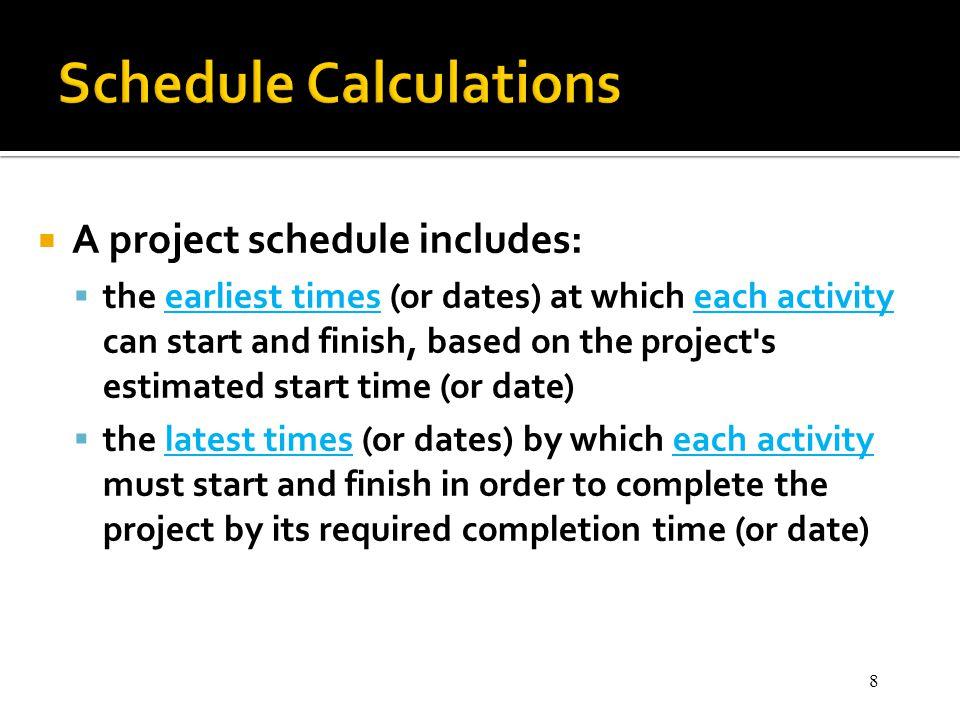 Schedule Calculations