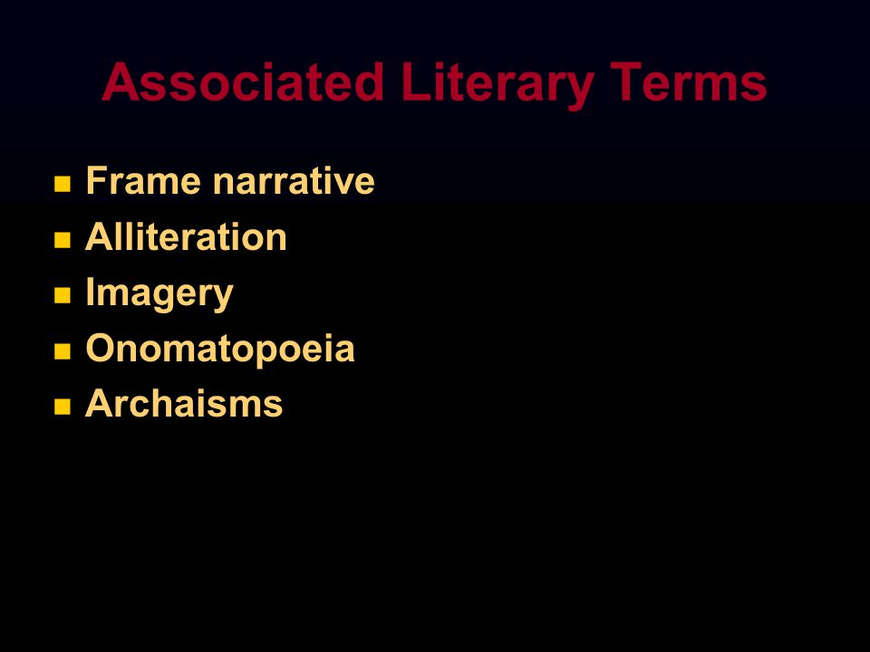 Associated Literary Terms