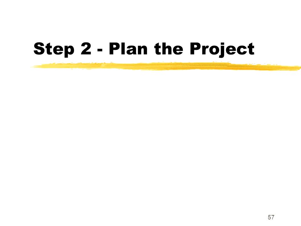 Step 2 - Plan the Project
