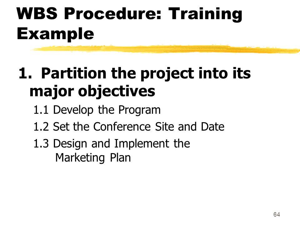WBS Procedure: Training Example