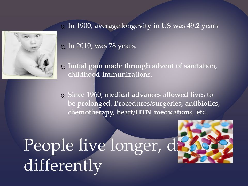 People live longer, die differently