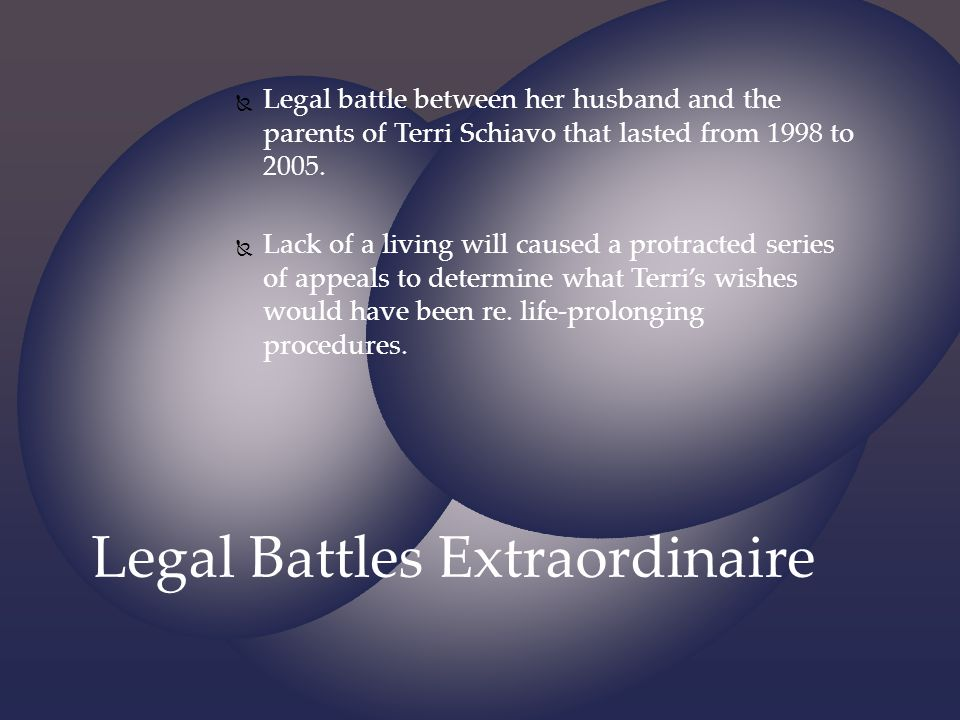 Legal Battles Extraordinaire