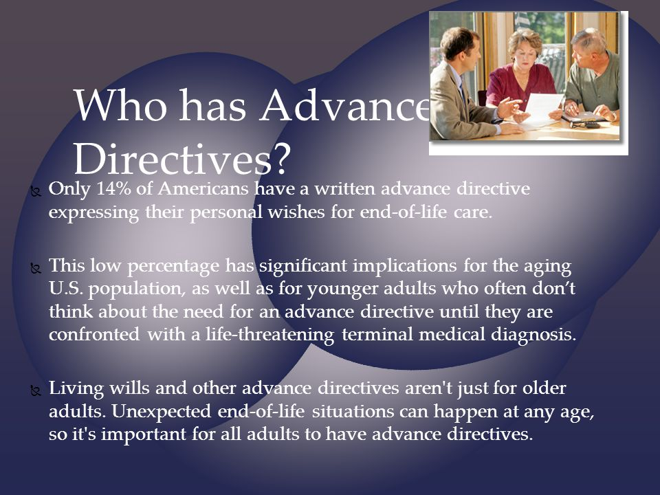 Who has Advanced Directives