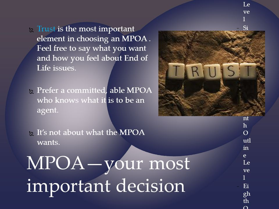 MPOA—your most important decision