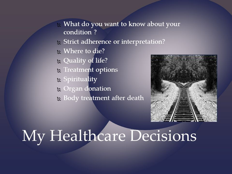 My Healthcare Decisions