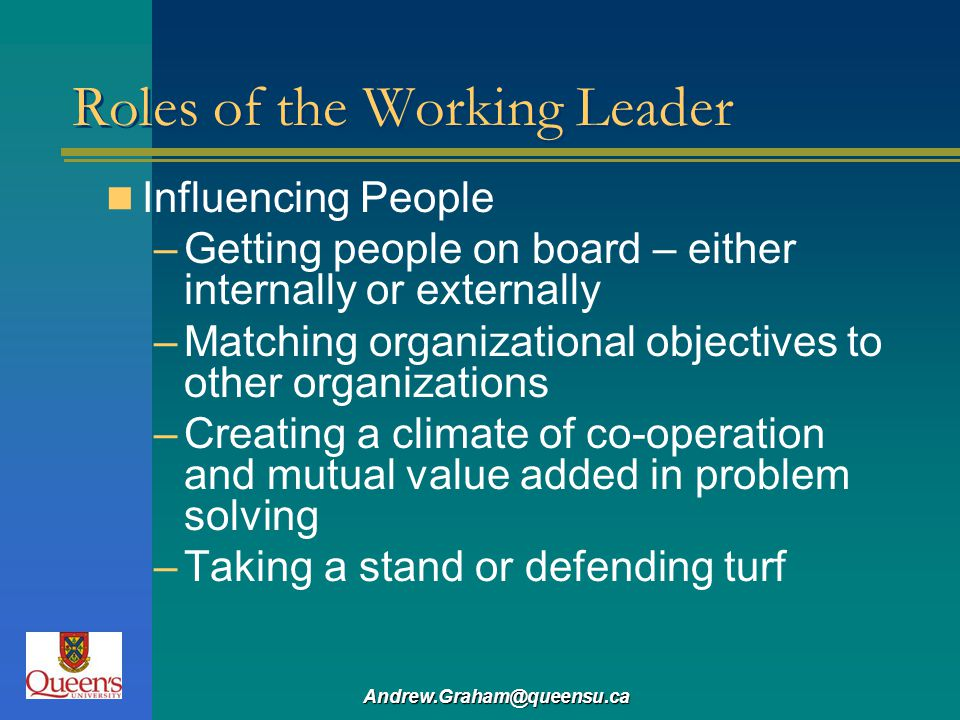 Roles of the Working Leader